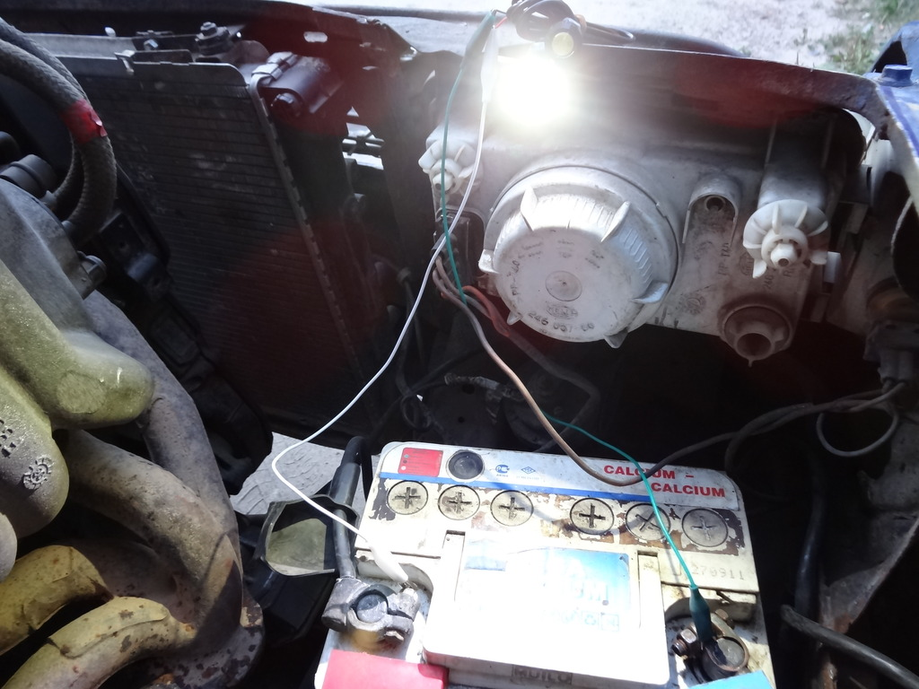 схема подключения светодиодом на колёса